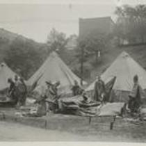World War I- Edgewater Park encampment 1910s