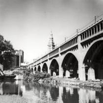 Downtown Cleveland, Ohio, and the Detroit-Superior Bridge
