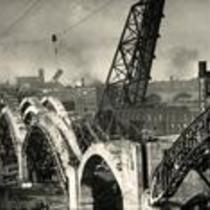 Construction of Detroit-Superior High-Level Bridge