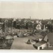 third section of panorama showing damage of East Ohio Gas Explosion and Fire