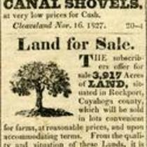 Advertisement of Land for Sale in Rockport, Cuyahoga County