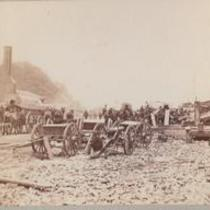 Army Wagons, Artillery. City Point, Va.