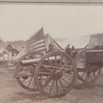Artillery captured by Butterfield's Brigade near Hanover Court House.