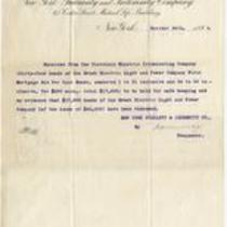 Receipt from New York Guaranty & Indemnity Company