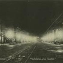 Street at night, Warren, Ohio