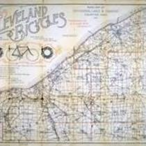 Road map of Cuyahoga, Lake & Geauga Counties Ohio