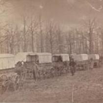 Ambulance Train. Harewood Hospital, D.C. July, 1863