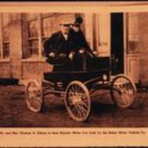 Mr. and Mrs. Edison in a Baker Electric automobile