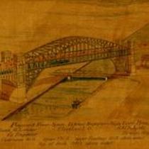 Proposed river span, Detroit Superior High Level Bridge, Cleveland, Ohio