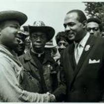 A.D. King, B.L. Osborne, Jr.(?), and Carl Stokes