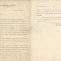 Letter from Charles Sumner Howe to Herman Baehr