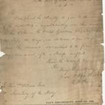 U.S. Navy Official Tracing Copy of Oliver Perry's Letter to William Jones, Secretary of Navy