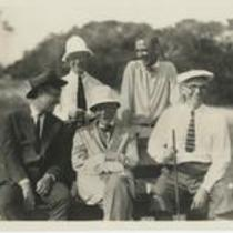 Rockefeller with fellow golfers