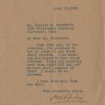 Letter from W.E.B. Du Bois to Charles Chesnutt