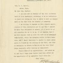 Letter from Warren G. Harding to Col. O. C. Barber