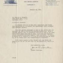 Letter from J.E. Hunter to Charles Chesnutt