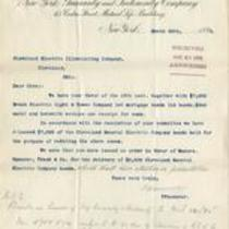 Letter from New York Guaranty & Indemnity Company