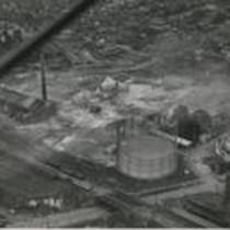 Aerial view of devastation