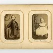 Photographs contained within carte de visite album