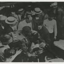 Garrett A. Morgan rescuing body of Lake Erie disaster victim